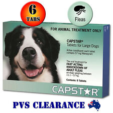 Capstar for Large Dogs 11.1 to 57 Kg Green 6-Pack Fast Knockdown Flea Treatment