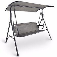 VonHaus Modern Swing Seat With Canopy Outdoor Garden Patio Swinging Chair