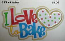 Love To Bake Title girl boy scrapbook premade paper piecing by Rhonda