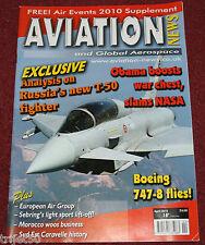 Aviation News 2010 April Porter Airlines.Sukhoi T50,Spain,Finland