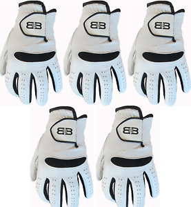 5 Back to Back 100% Cabretta Leather Gents Mens Golf Gloves