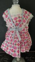 VINTAGE! Pink & Blue LACE PINAFORE Apron 1950 Style DRESS for HARD PLASTIC DOLL