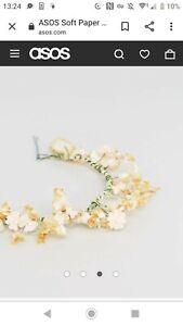ASOS Soft Paper Flower Leaf Back Hair Clip