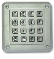 1K160101 -  Keypad, STORM INTERFACE 1000 Series, 50 mA, 24V, Matrix, 16WAY