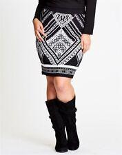 Viscose Machine Washable Knee-Length Geometric Skirts for Women