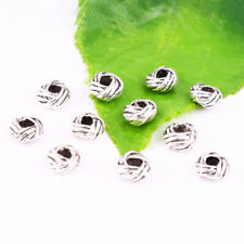 50pcs Tibetan silver Charm Loose Round Spacer Beads Jewelry Findings 6x3mm