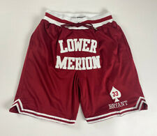Throwback Bryant #33 Lower Merion Basketball Shorts Stitched Streetball Shorts