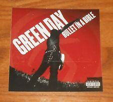 Green Day Bullet in a Bible Sticker 2-Sided Original Promo 4x4
