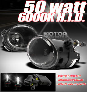 01-06 BMW E46 M3/00-03 E39 M5/330CI 330I BUMPER DRIVING FOG LIGHT LAMP W/50W HID