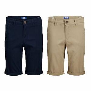 Jack & Jones New Boys Kids Formal Shorts Smart Casual Slim Fit Cotton Half Pants