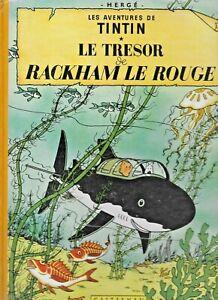 Tintin 1947 Le Tresor de Rackham Le Rouge Herge French Hardcover Comics