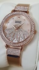 Badgley Mischka BA/1380RMRG Women's 36mm Rose Tone Flower Watch <NEW+SHIPS FREE>