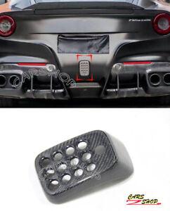 For Ferrari F12 Berlinetta Real Carbon Fiber Rear Brake Fog Light Cover W Camera