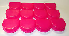 Dental Orthodontic Retainer Denture Mouth Guard Case Bleach Tray Box MEGA PINK