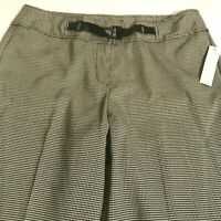 Larry Levine size 12 black gingham pants new with tags
