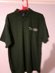 New Jaguar Landrover Polo Shirt  3 button fasterning  In Green Size Large