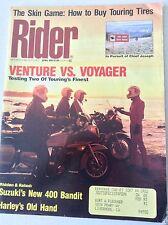 Rider Magazine Venture Vs Voyager Suzuki 400 Bandit April 1991 051117nonrh
