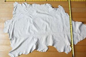 Lamb Sheep Calf Nappa Leather hide skin WHITE thin smooth garment