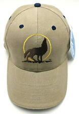 WOLF HOWLING / DOG HOWLING beige adjustable cap / hat *NEW*
