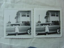 Vintage Car Photos Cute Girl w/ 1950 Hudson Double Automobiles 791702
