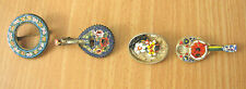 mosaic brooches, damaged 4 Italy antique micro