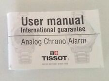 TISSOT ORIGINAL ANALOG CHRONO ALARM MANUAL -SERIOUS OFFERS ARE WELCOME !
