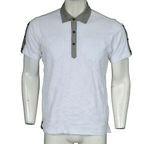 B-Side By Wale White Freddie Polo Shirt Men's Size M Medium