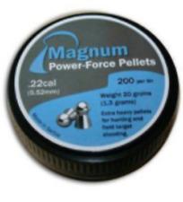 MAGNUM POWER-FORCE PELLETS .22 (PKT 200) Air Gun Rifle Pistol Ammunition MY