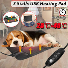 2018 Electric USB Heat Heated Pad Mat Blanket Dog Bunny Bed Cat Warmer Leather