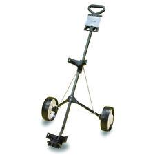 2 Wheel Push Pull Golf Cart Sport Club Bag Light Weight Steel Trolley Foldable
