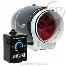 "Vortex S-600 Mixed Flow Fan 6 inch Duct Blower Power Fans 6"" + Speed Controller"