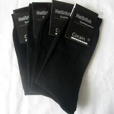4 Paar stabile Herren Socken glatte Struktur 100% Baumwolle schwarz Cocain 47-50