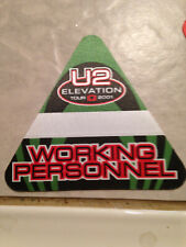 Vintage 2001 U2 Elevation Tour Concert Working Personnel Silk Backstage Pass