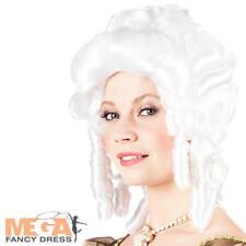 Perruque baroque blanche mesdames déguisements médiéval renaissance Boule Accessoire pour Femme