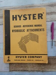Hyster Hydraulic Attachments service - reference manual book