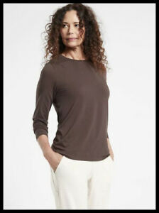 Athleta NWT Women's Outbound Top Size Large Color Walnut Brown