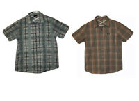 Oakley Button-Up Shirts Plaid Short Sleeve Mens Size L (Lot of 2)
