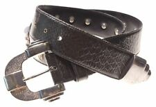 ESCADA Womens Belt W31 Black Leather Vintage D204