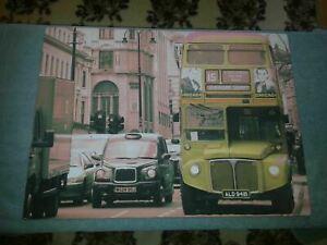 Red London Bus Trafalgar Square - Beautiful LED Wall Mounted Canvas Print