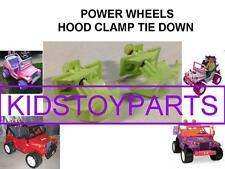 POWER WHEELS LIME HOOD LATCH CLAMP FITS ALL JEEPS WITH FRONT HOOD SET OF 2