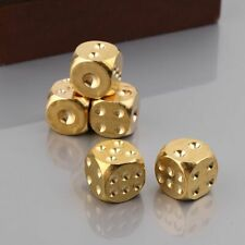 1pc Solid Polished Brass Dice 20mm Metal Cube Copper Poker Bar Board Game Gift