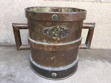 Ancienne mesure en cuivre décalitre antique copper
