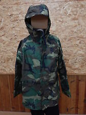 Army Issue Improved Rain Suit, IRS,BDU /Woodland Wet Weather Rain Parka    Small