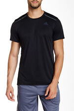 New Adidas Men's $33 Black 'Cool 365' Climacool Short Sleeve Tee Medium Nwt