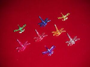 (32) decorative dragonfly orchid nursery plant clips supports 8 colors medium