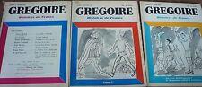 Revue: GREGOIRE, Histoires de France, 1957, 3N°, free Shipping*