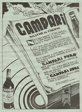 J0241 Campari Soda - Pubblicità formato grande del 1934 - Old advertising