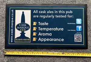 New Cask Marque Beer Drip Mat Bar Runner - Man Cave Bar