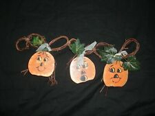 Adorable Handcrafted Pumpkin Halloween/Fall Wall Hanging Door Hanger Decoration
