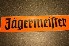 """1 x Jagermeister 15.5"""" x 4 """" black / orange Sticker"""